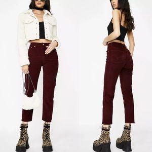 Levi's Wedgie Straight Shiraz Corduroy Pants